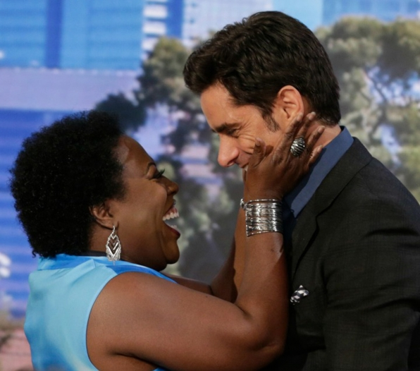 Sheryl Underwood and John Stamos from The Talk