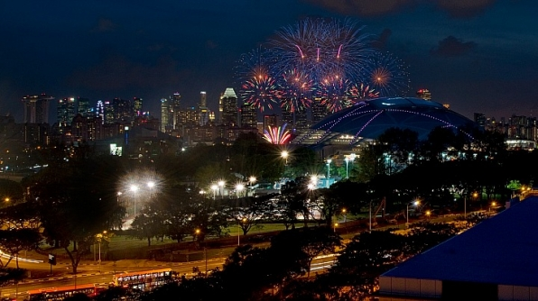 5. The Singapore Sports Hub in Kallang, Singapore