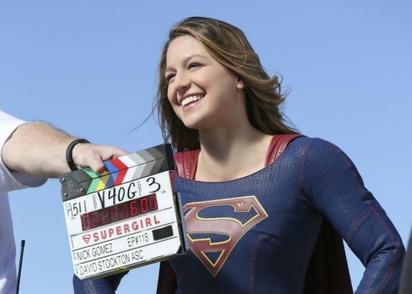 Supergirl showed off her best superpower: her gorgeous smile.