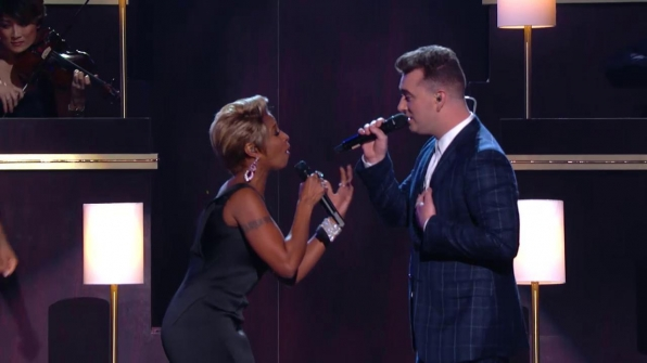Sam Smith and Mary J. Blige