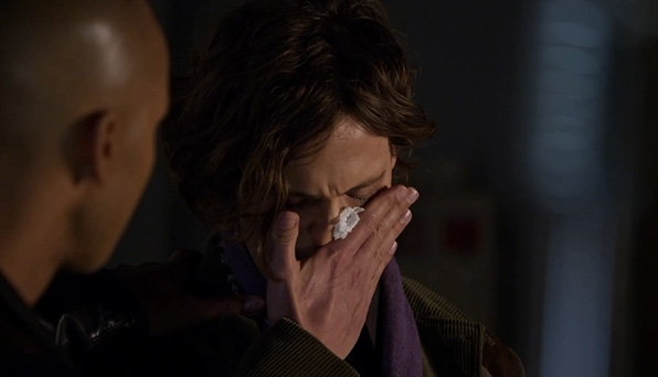 Reid hides the tears.
