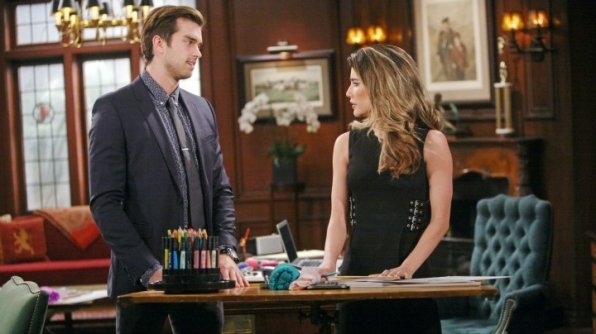 Thomas shocks Steffy when he proposes a very indecorous wager regarding Wyatt and Ivy.