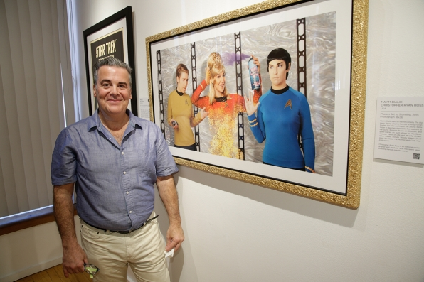 "Jorge Ferreiro (Curator) with ""Phasers Set to Stunning"""
