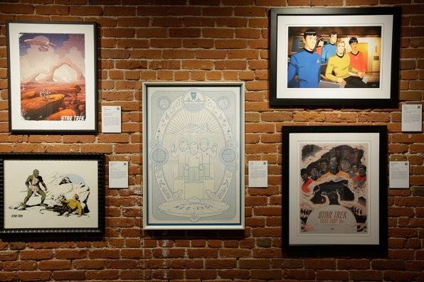 Wall of Star Trek art