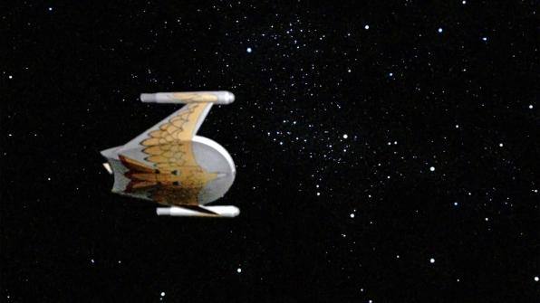Romulan/Klingon warbird