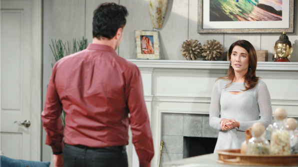 Bill gives Steffy some advice about her marriage.