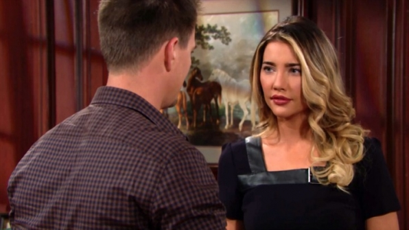 Wyatt promises to stay by Steffy's side.