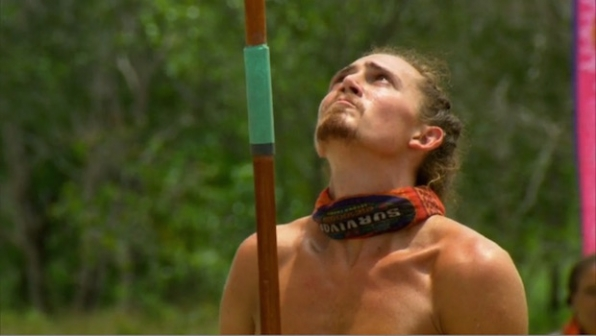 Survivor: Second Chance: Joe vs. Keith in the elimination challenge