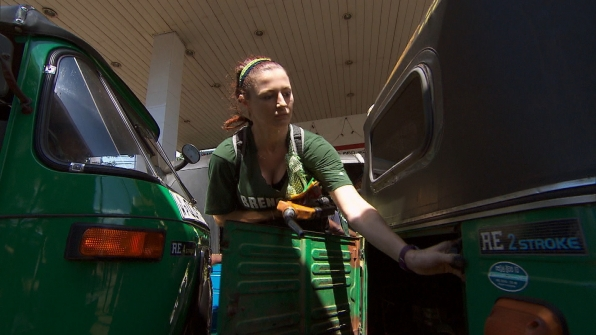 Filling up gas tanks in Season 24 Episode 6