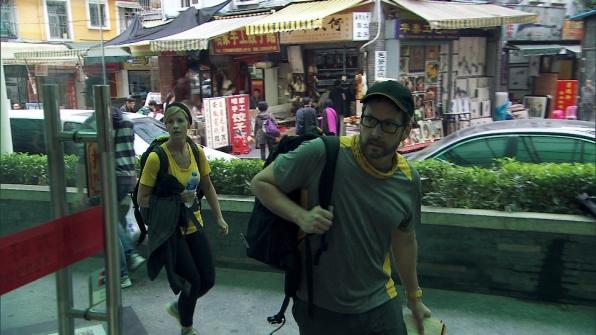 Ashley and Burnie navigate through Shenzhen, China.