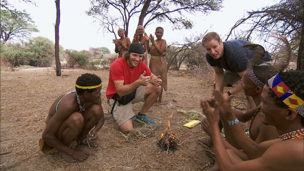 "Making a fire in ""Scorpion King Hunter"" Episode 6 of Season 22"