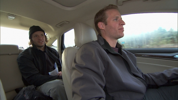 "Driving to the next location in ""The Ultimate Fun House"" Season 22 Episode 9"