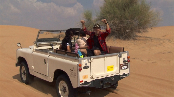 Matt and Dana take a ride in the desert toward Detour A.