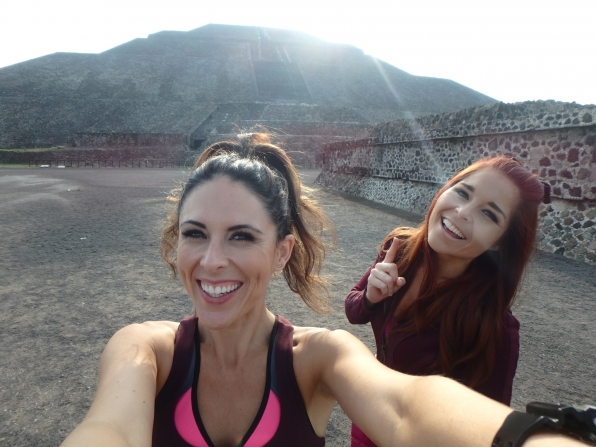 Joslyn and Erin felt invigorated when visiting the Teotihuacán Pyramids.