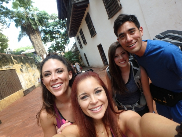Joslyn, Erin, Rachel, and Zach squeeze in close for this sweet snapshot.