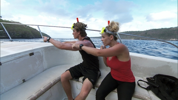 Cole and Sheri make a splash on the latest episode of The Amazing Race.