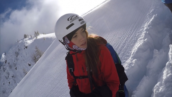 In Detour B, Blair (pictured) and her dad, Scott, must cross over a mountainside.