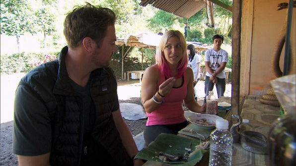 Eating snakes in Season 23 Episode 10