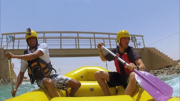 Riding the rapids