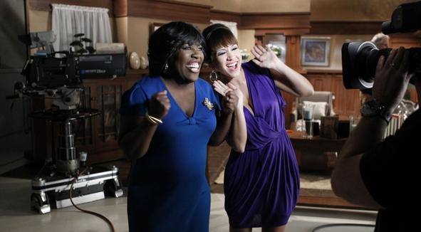 """Sheryl Underwood & Diana DeGarmo on """"Y&R"""" Set!"""