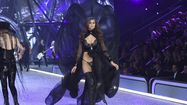 Angel Taylor Hill is jaw-dropping in this giant billowing ensemble.