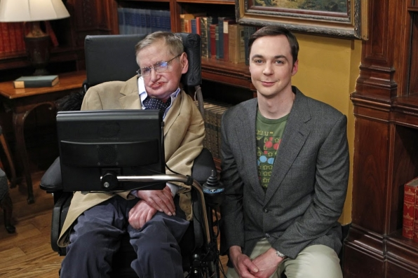 Jim Parsons and Stephen Hawking