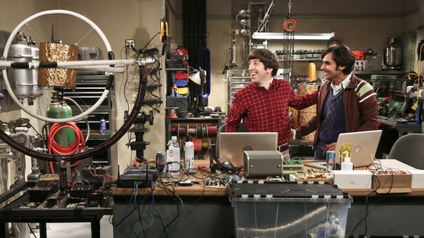 The guys invented an infinite persistence gyroscope on The Big Bang Theory.