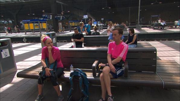 #TeamAlabama wait to board the train in Rotterdam, Netherlands.