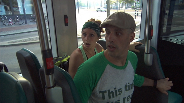 #TheGreenTeam travels by tram to the Detour of their choice.