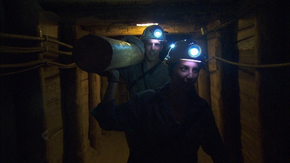 #TheGreenTeam work hard in the Wieliczka Salt Mines