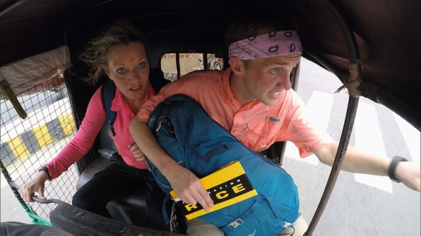 Denise (left) and James Earl (right) must choose a marked Tuk Tuk and travel to the banks of the