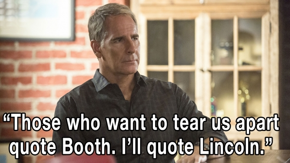 """Those who want to tear us apart quote Booth. I'll quote Lincoln."""