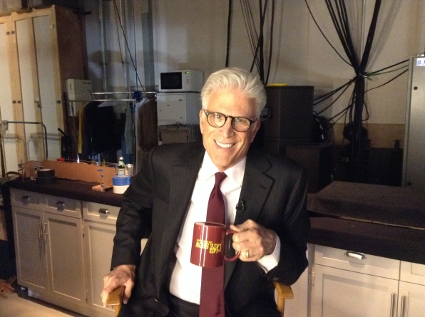 Ted Danson - Behind the Scenes at The Late Late Show