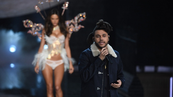 The Weeknd made himself at home on the runway