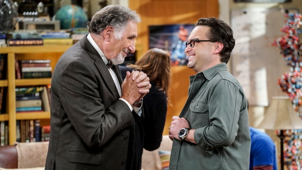Leonard laughs with his father, Alfred (Judd Hirsch).