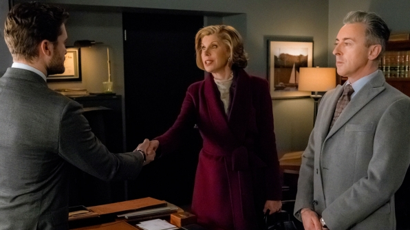 Christine Baranski as Diane Lockhart and Alan Cumming as Eli Gold