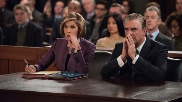 Diane takes notes as Peter contemplates his future.
