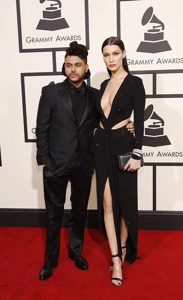 GRAMMYs 2016: The Weeknd and Bella Hadid