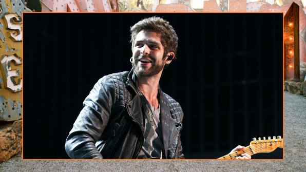 "We wouldn't mind getting ""Tangled"" in Thomas Rhett's beautiful bristles."