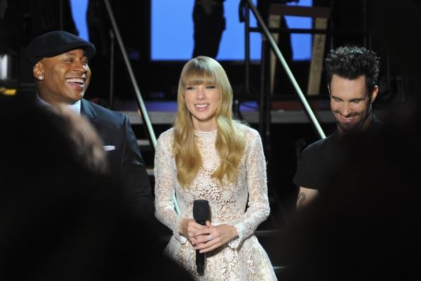 LL Cool J, Taylor Swift and Adam Levine