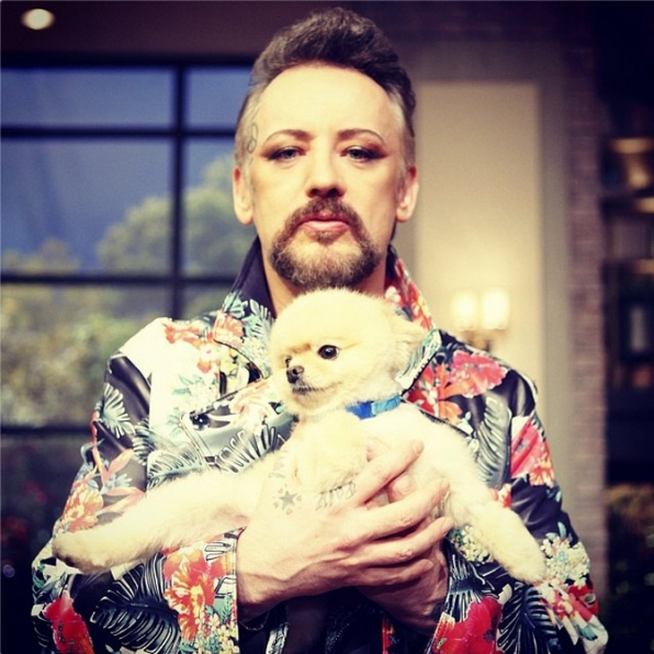 10. Bella has hung out with Boy George.