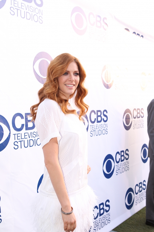 Rachelle Lefevre on the CBS Summer Soiree Red Carpet