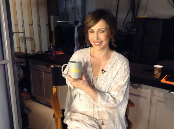Vera Farmiga - Behind the Scenes at The Late Late Show