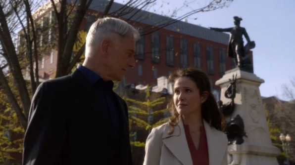 The walk-and-talk scene featuring Gibbs and Anne was filmed at Lafayette Square in Washington D.C., across the street from the White House.