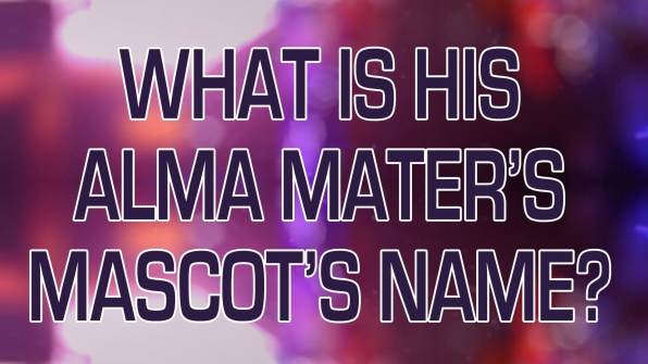 What is his Alma Mater's Mascot's name?