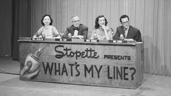 Stars lined up to play on What's My Line?