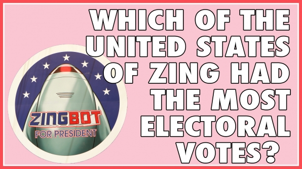 Which of the United States of Zing had the most electoral votes?