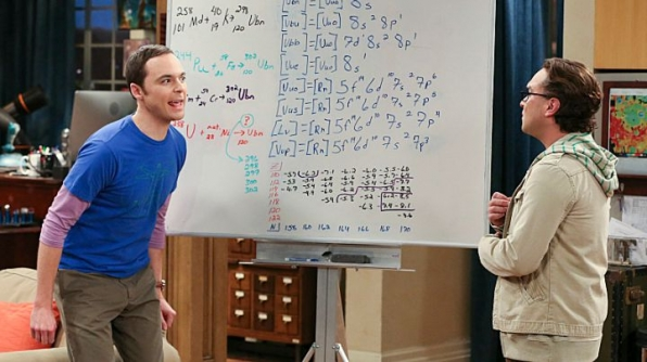 You bought a whiteboard because Sheldon and Leonard have a whiteboard.