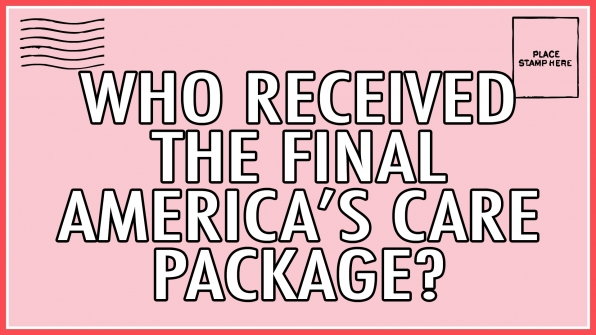 Who received the final America's Care Package?