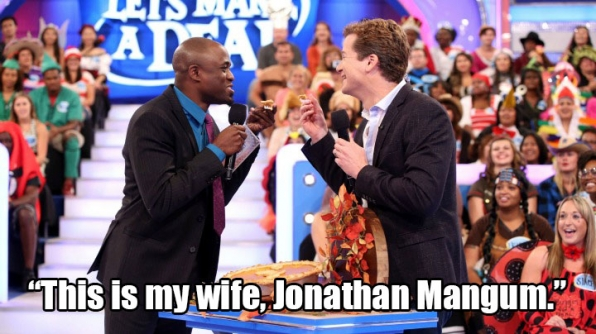 """This is my wife, Jonathan Mangum."""